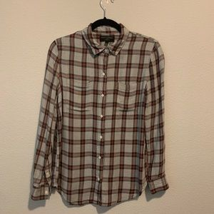 Banana Republic Flannel boyfriend fit small H3